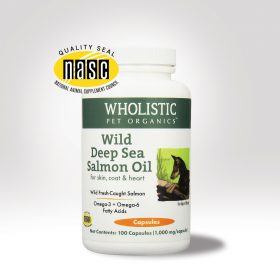 salmon oil to repair and maintain a healthy coat.